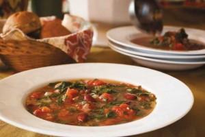 Toasty Roasty Kale and Bean Tomato Soup!