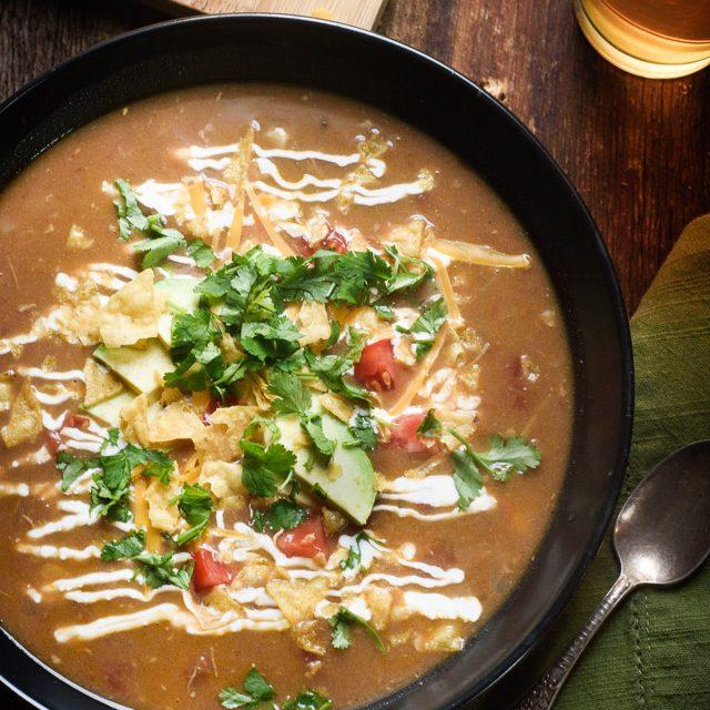 Slow Cooker Chicken Tortilla Soup!