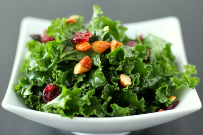 Holiday Recipes III – Kale Cranberry Yuletide Salad!