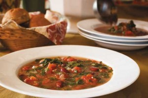 Toasty Roasty Kale and Bean Tomato Soup!
