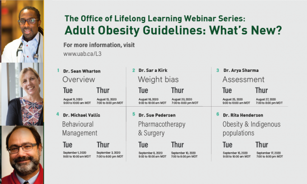 The 2020 Canadian Adult Obesity Guidelines Are Published Today!  Webinar Series